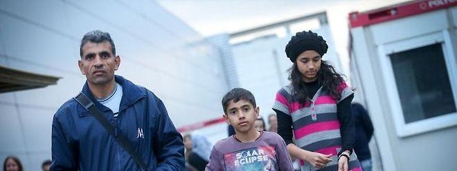 Les familles sont logées dans des centres provisoires en attendant une réponse de la direction de l'Immigration quant à leur demande de protection internationale.