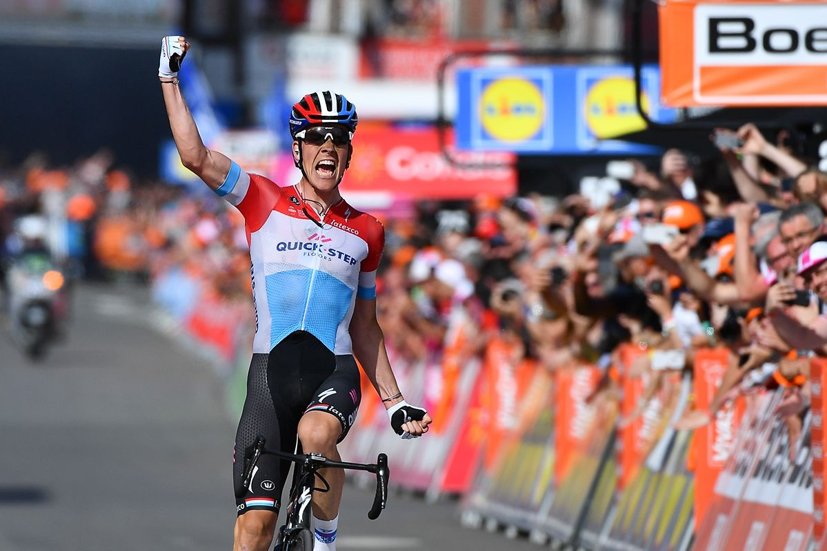 Bob Jungels (Quick-Step) gewinnt auf souveräne Art und Weise Liège-Bastogne-Liège 2018.