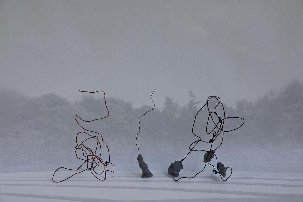 """Das Werk """"Concrete and Rebar"""" der aus Warschau stammenden Künstlerin Monika Sosnowska besteht aus drei Teilen."""