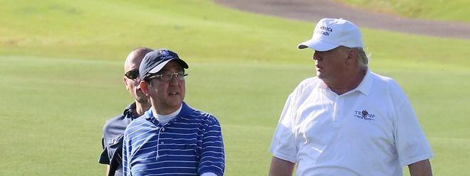 Den beiden Politikern blieb Zeit für eine Runde Golf.
