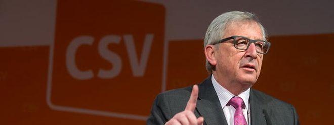 Jean-Claude Juncker durante o pouco tempo que esteve à frente da bancada parlamentar do CSV, antes de ocupar o cargo de presidente da Comissão Europeia