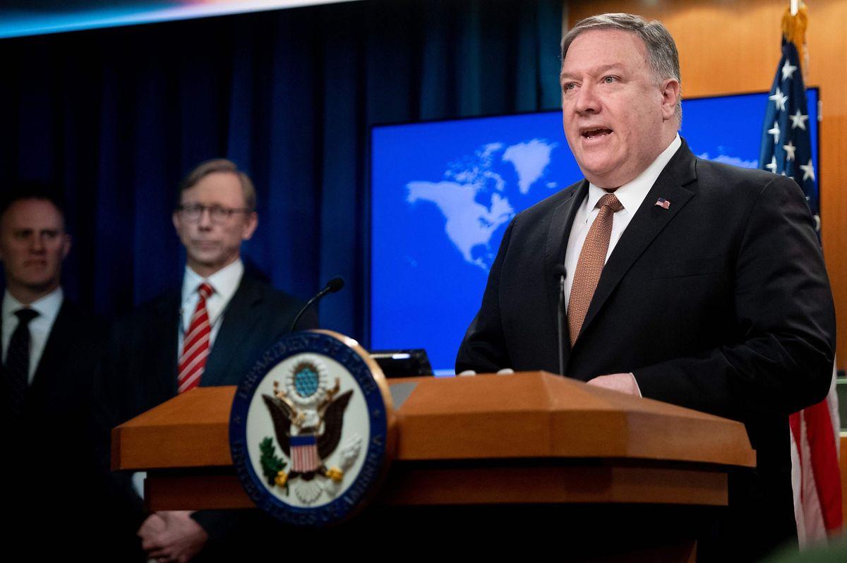 """US-Außenminister Mike Pompeo gab die Entscheidung bekannt, die iranischen Revolutionsgarden als """"Terrororganisation"""" einzustufen."""