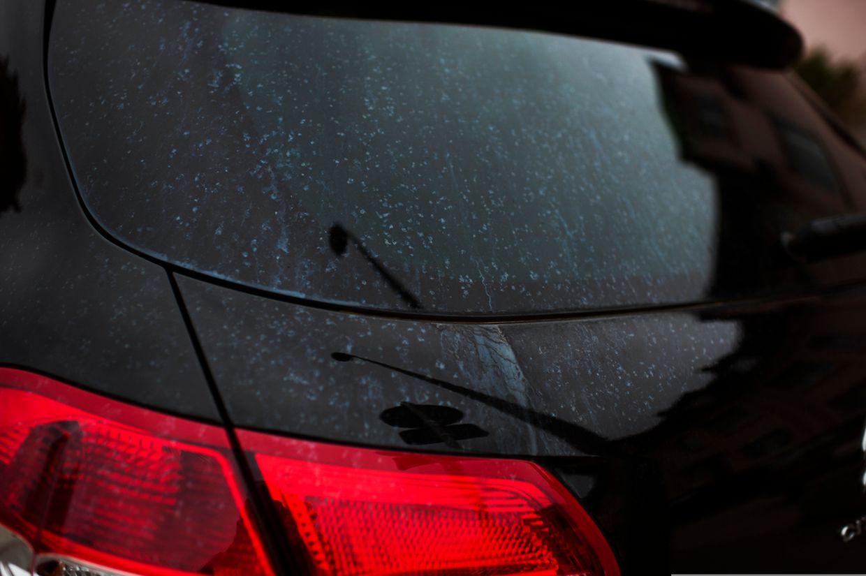 Autoschäden durch Umwelteinwirkung, Foto: Ann Sophie LindströmLackschäden, Schwefelwolke, Staub, Twinerg