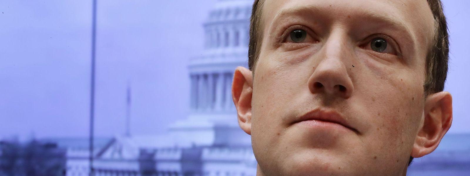 Mark Zuckerberg bei der Anhörung.