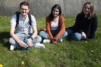online.fr, Sophie Wiessler im Gespräch mit   Cyril de Waha, Thaïs Lasar,  Zélie Guisset,  jeunes pour le climat au Luxembourg, Foto: Anouk Antony/Luxemburger Wort