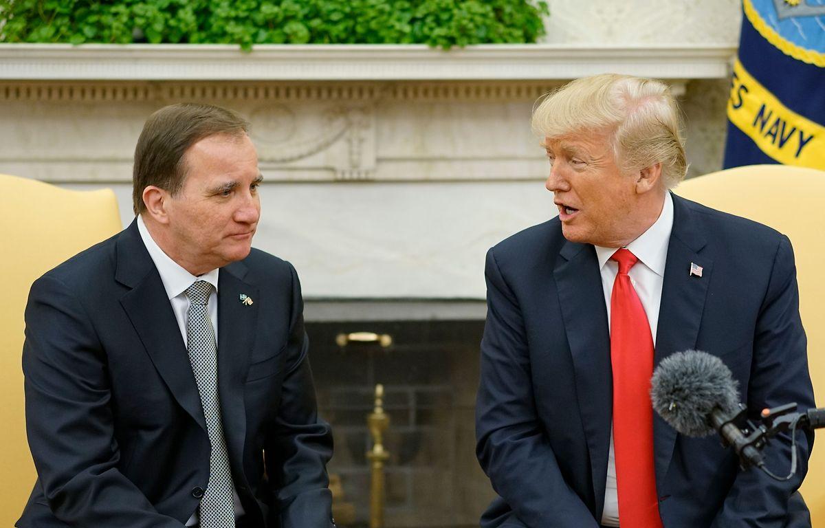 Trump mit dem schwedischen Premier Stefan Löfven.