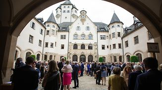 The Grand Ducal garden party on Schlossberg.