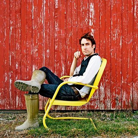 So sieht ein glücklicher Mensch aus: Andrew Bird im Jahre 2012