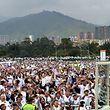 Der Papst feiert eine Messe in Medellin.