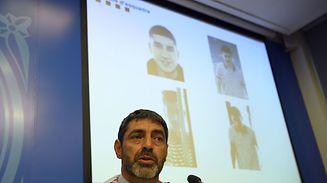 Josep Lluis Trapero, chef de la police catalane Mossos D'Esquadra a donné une conférence de presse lundi et diffusé la photo du fugitif, considéré comme dangereux.