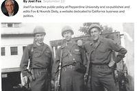 """Der Gastbeitrag von Joel Fox in der """"Washington Post"""". Der Mann in der Mitte auf dem Bild ist der Vater des Artikelschreibers, Harry L. Fox."""