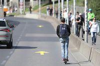 Lokales, Electro-Roller. Trotinette éléctrique, Luxembourg city, foto: Chris Karaba/Luxemburger Wort
