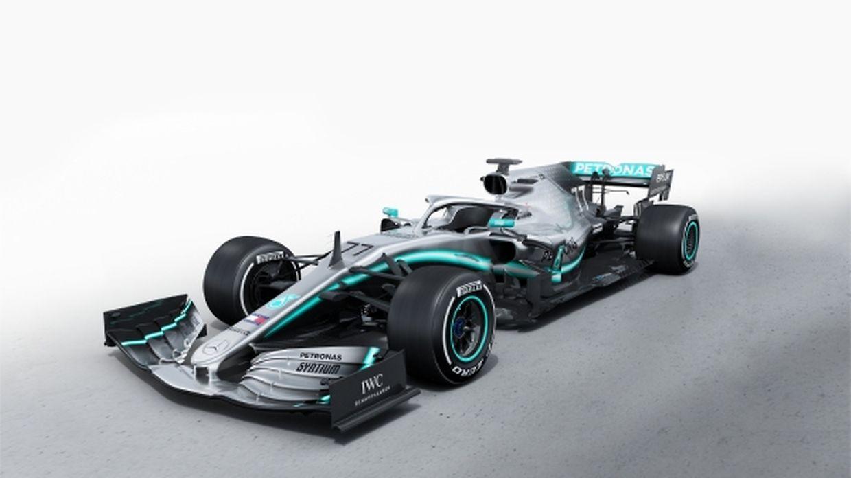 La Mercedes W10 que piloteront Lewis Hamilton et Valtteri Bottas.