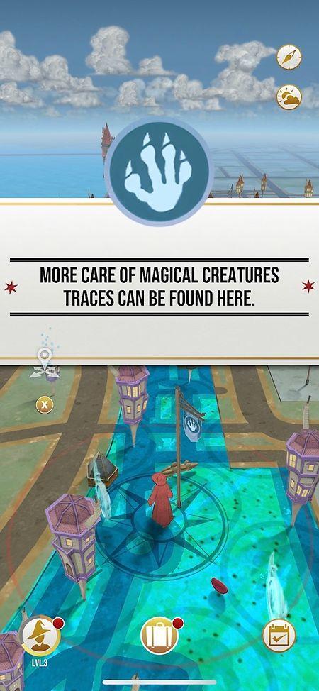 Die Karte führt den Spieler zu immer neuen magischen Kreaturen.