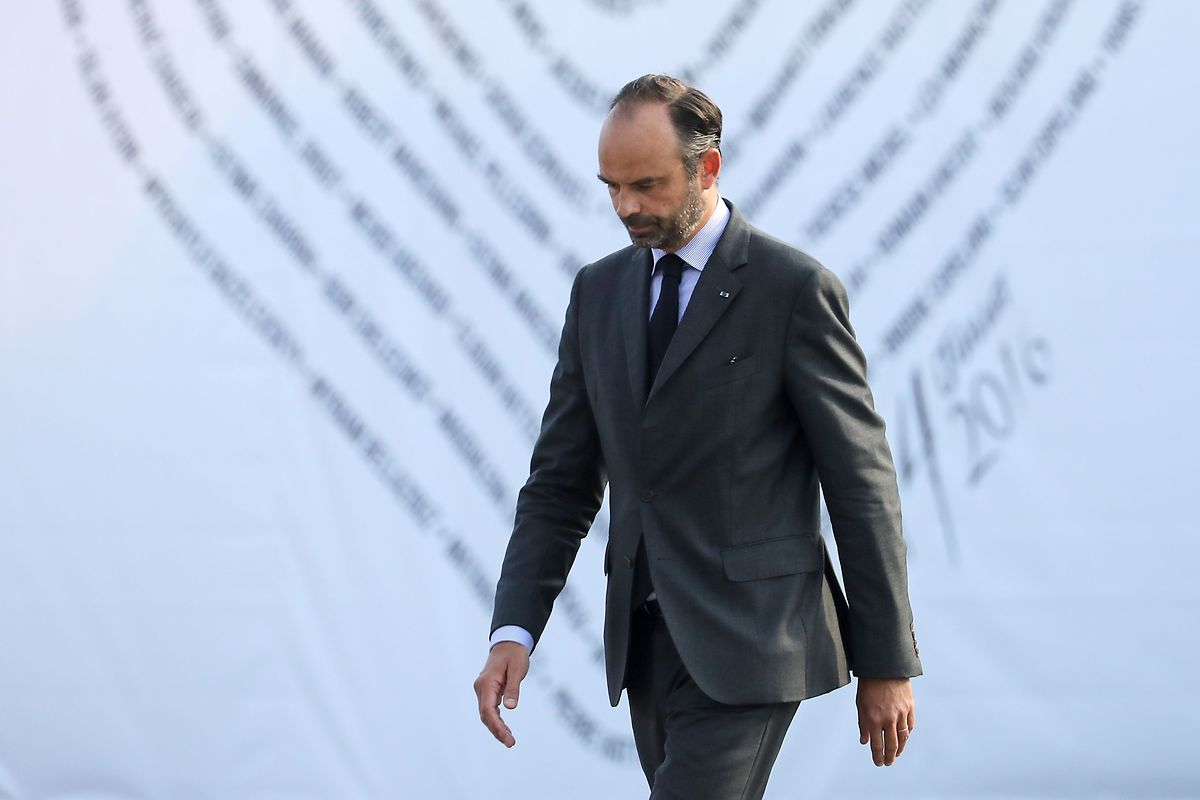 Premier Edouard Philippe sprach in Nizza.