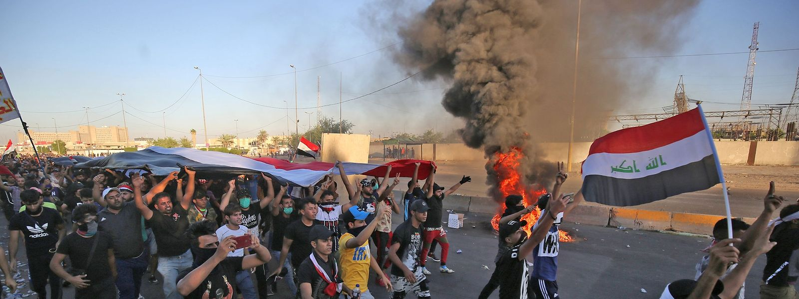 In Bagdad und anderen Städten des Landes gab es Krawalle.