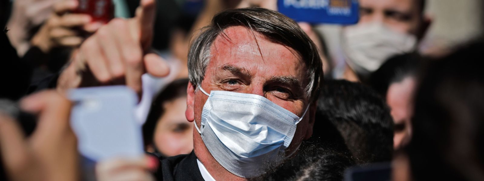 Jair Bolsonaro bei einer Kundgebung von Parteianhängern.
