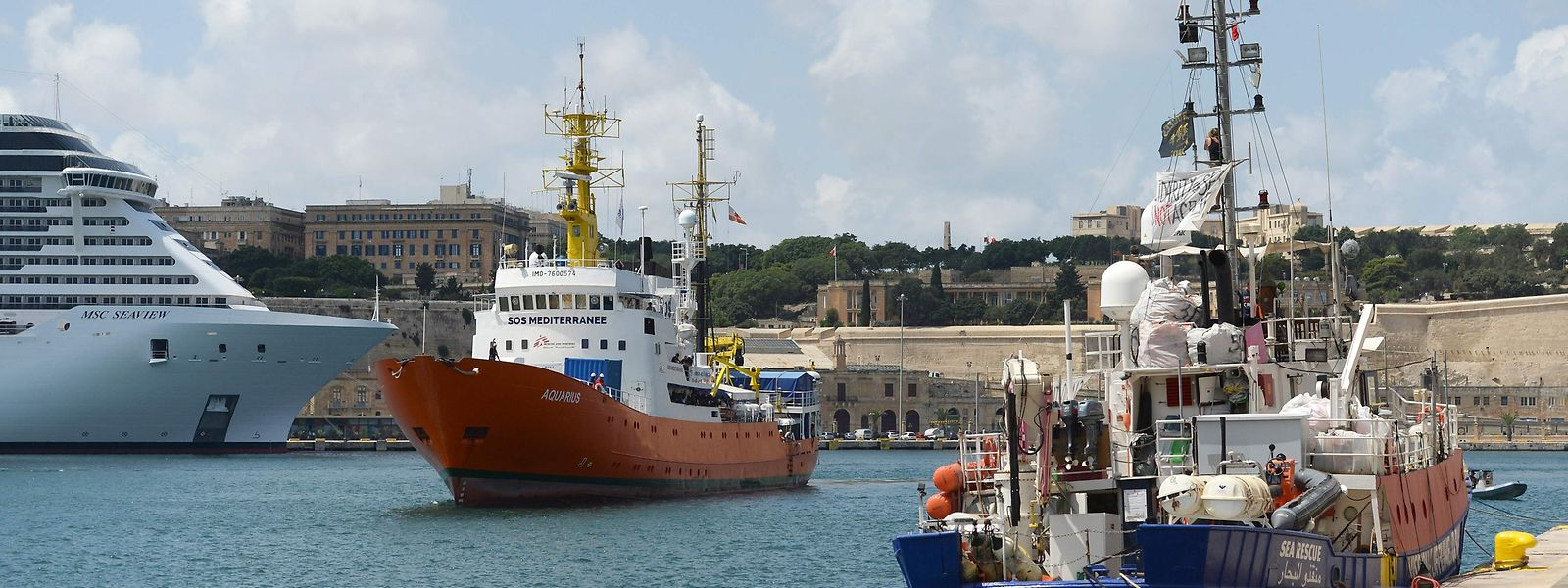Die Aquarius lief am 15. August 2018 in Malta ein.