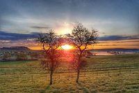 Sonnenaufgang auf einem Feld zwischen Bech und Berburg bei Manternach: Die zwei Gemeinden können sich durchaus vorstellen zusammenzuwachsen – aber ohne jede Eile.
