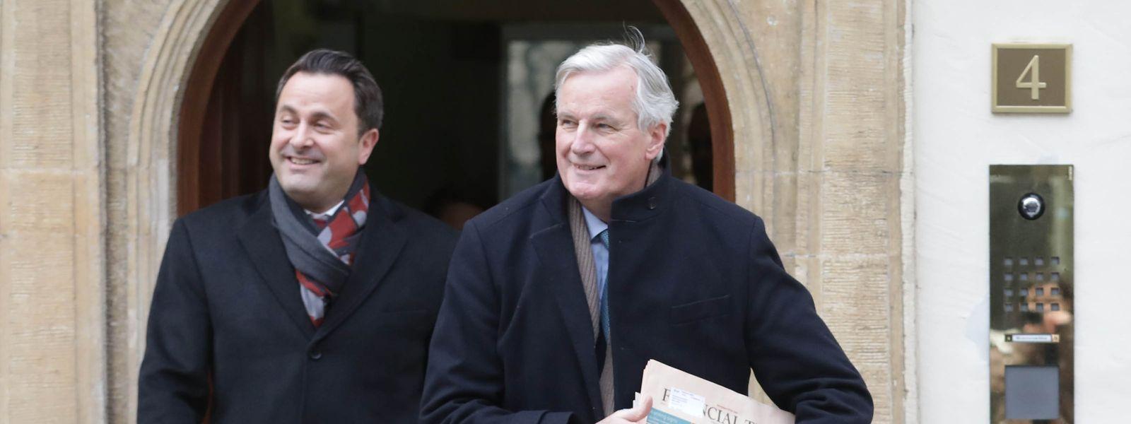 Xavier Bettel et Michel Barnier se sont entretenus ce lundi avant que le négociateur du Brexit pour l'UE ne rencontre, ce lundi soir à Bruxelles, Stephen Barclay, le ministre britannique chargé du Brexit.
