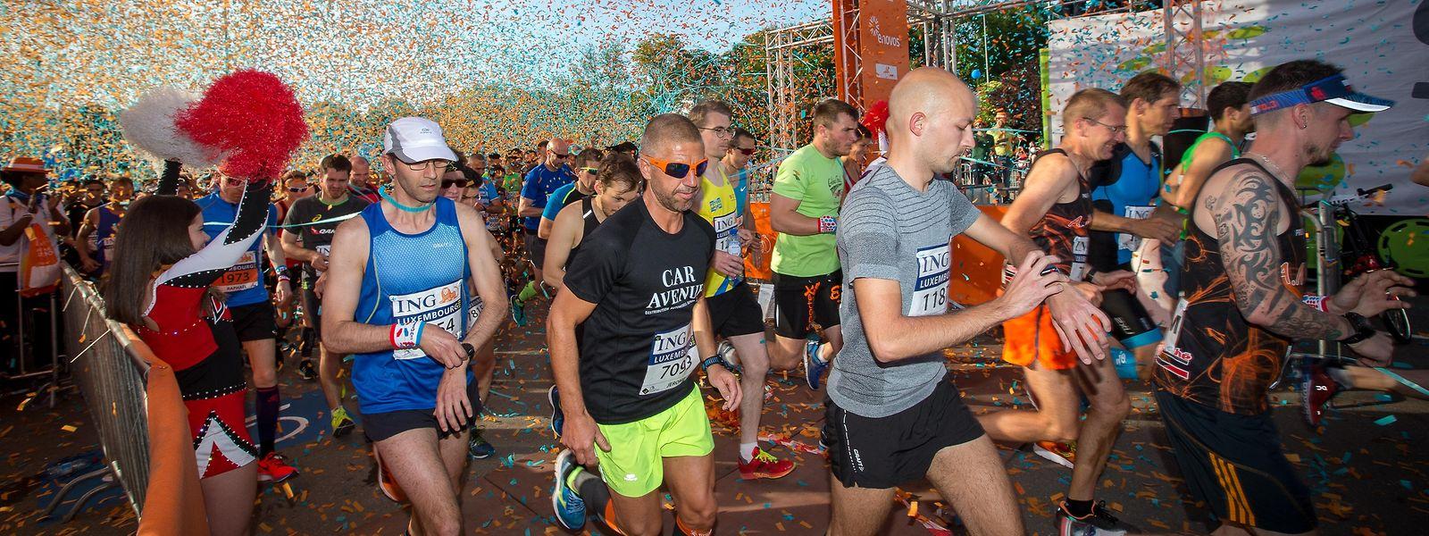 Der ING Night Marathon ist die größte Sportveranstaltung Luxemburgs.