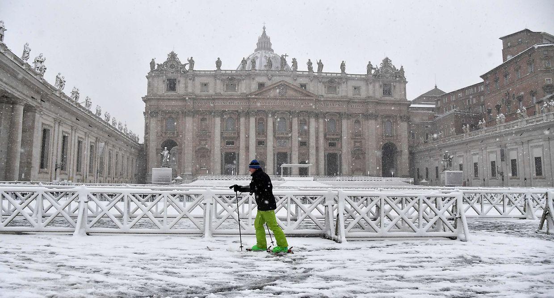 Skifahren im Vatikan? Zumindest am heutigen Montag kein Problem.