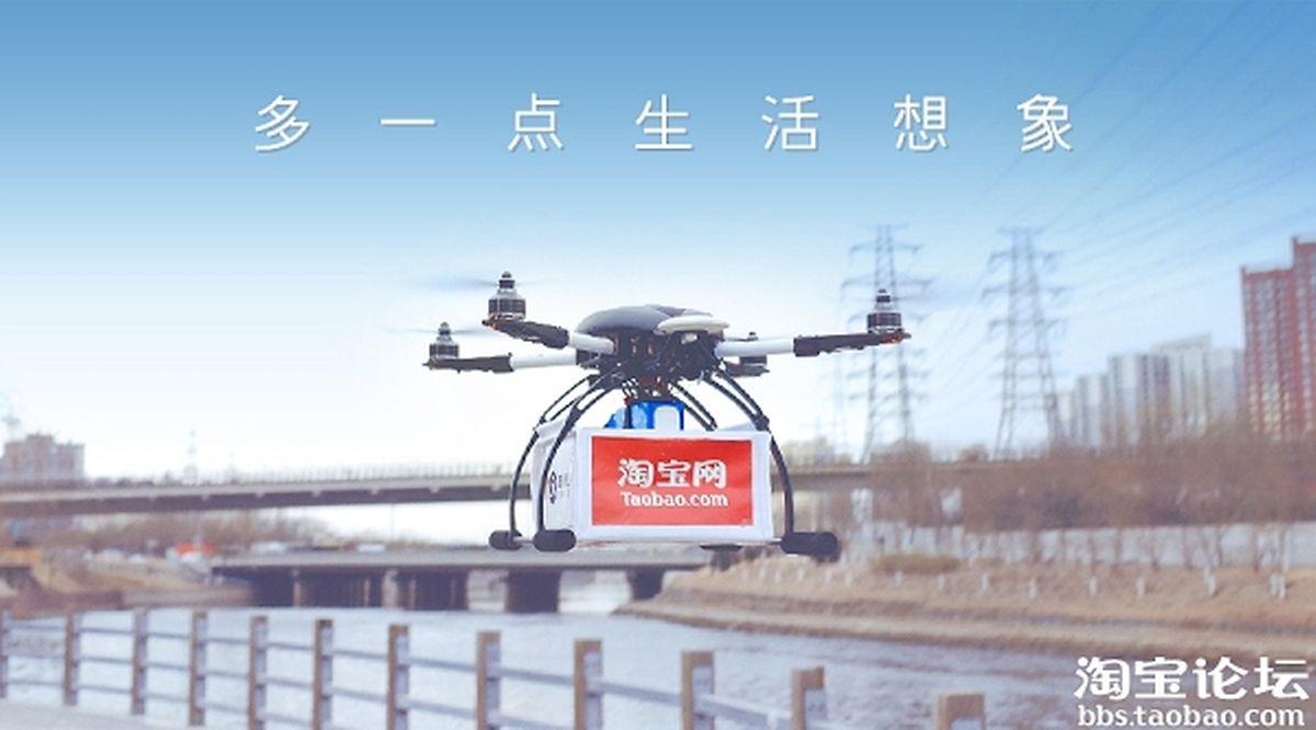 Le blog de Taobao, l'une des marketplaces d'Alibaba, a publié la première photo d'une livraison par drone
