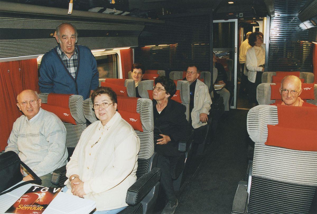 2001 noch etwas ganz Besonderes: Mit dem neuen TGV an die Côte d'Azur reisen.