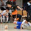 Kevin Gomes da Silva, en blanc, RAF Differdange, et Joao Soares, auteur de six buts, Amicale Clervaux Futsal / Foto: Stéphane Guillaume