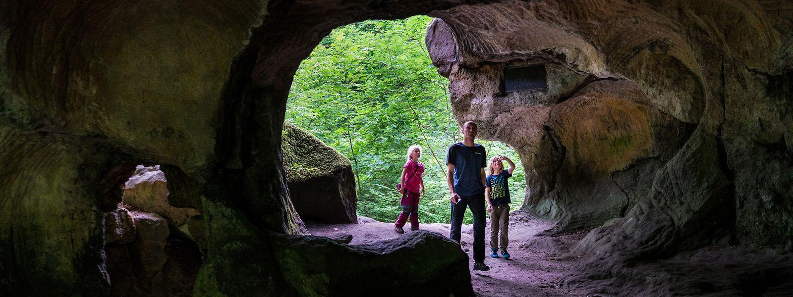 Höhlen, Felsen und Steilwände: Das Müllerthal hat viele geologische Sehenswürdigkeiten zu bieten.