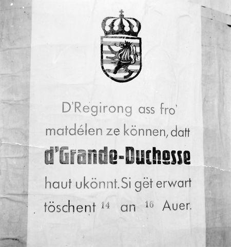 Bis zuletzt wurden Reiseroute und Ankunftszeit der Großherzogin aus Sicherheitsgründen geheimgehalten.