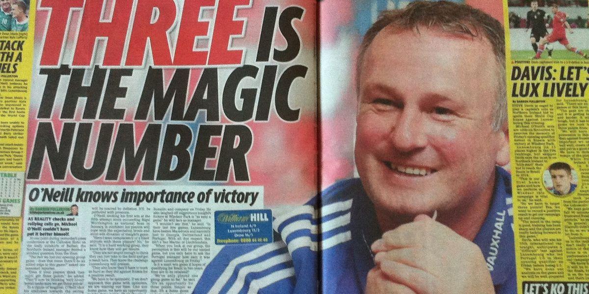 Der nordirische Nationaltrainer Michael O'Neill gibt sich gegenüber den nordirischen Medien siegessicher.