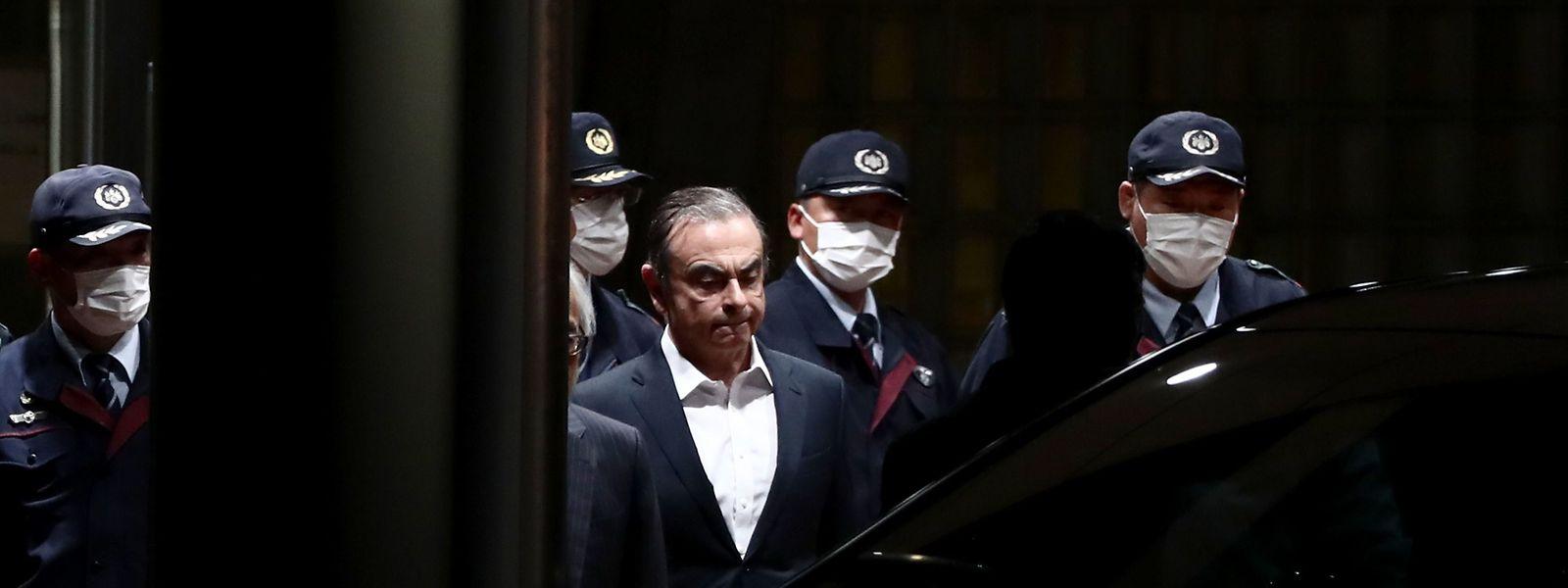 Carlos Ghosn im April 2019 nach einem Gerichtstermin.