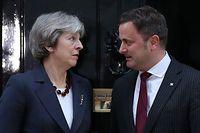 Theresa May e Xavier Bettel