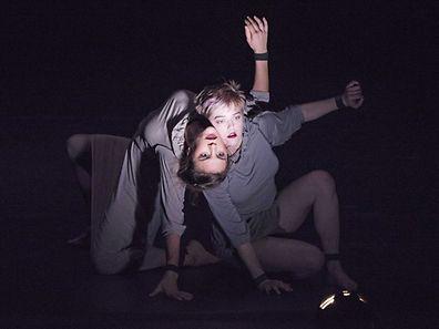 A scene from The Return by Circa @ Barbican Theatre.Directed by Yaron Lifschitz.(Opening 28-01-16)©Tristram Kenton 01/16(3 Raveley Street, LONDON NW5 2HX TEL 0207 267 5550  Mob 07973 617 355)email: tristram@tristramkenton.com