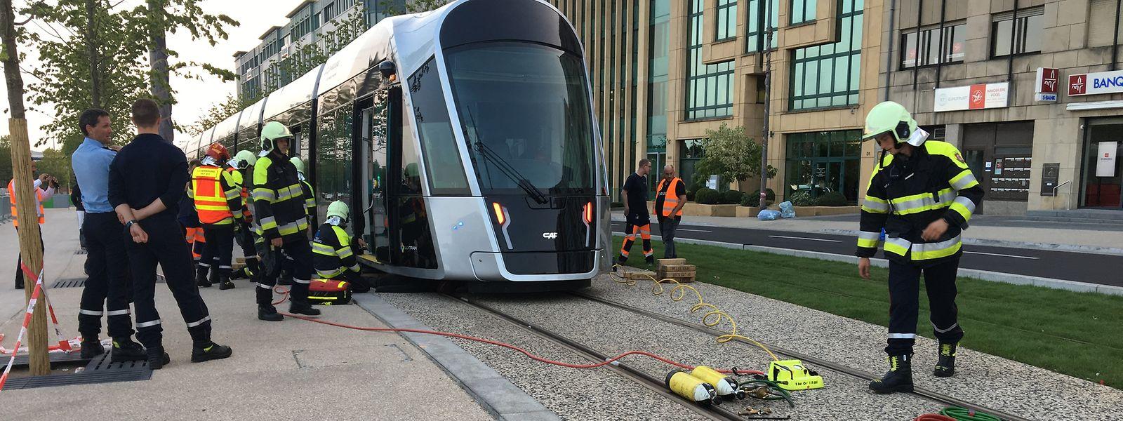 Am Mittwoch wurde ein Unfall mit der Tram simuliert.