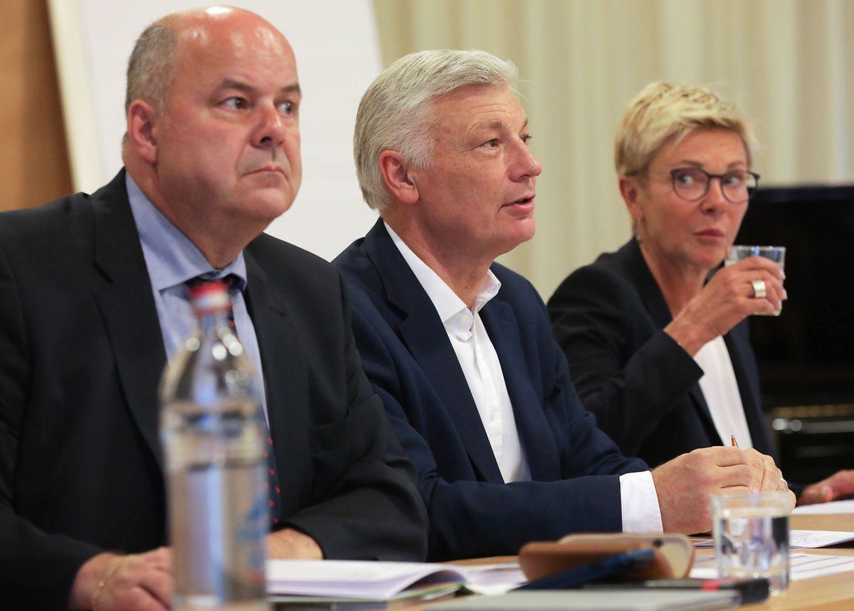 Marc Spautz, Claude Wiseler et Martine Hansen.