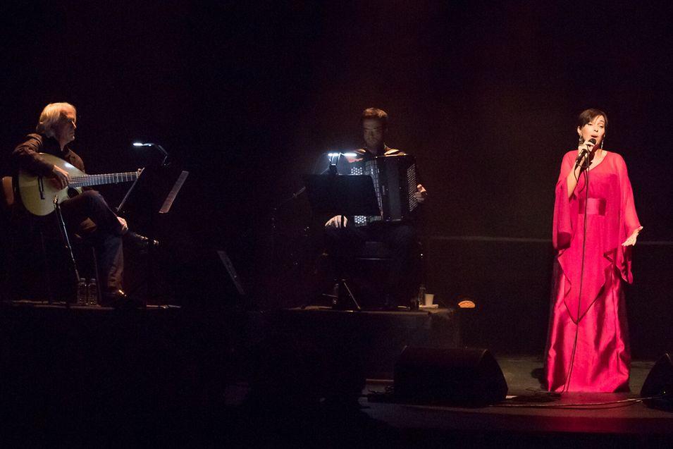 Teresa Salgueiro em concerto.
