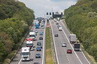Wiedereröffnung der Grenzen Frankreich, Autobahn A3/A31, Frankreich, Zouftgen, Pendler, Foto: Lex Kleren/Luxemburger Wort