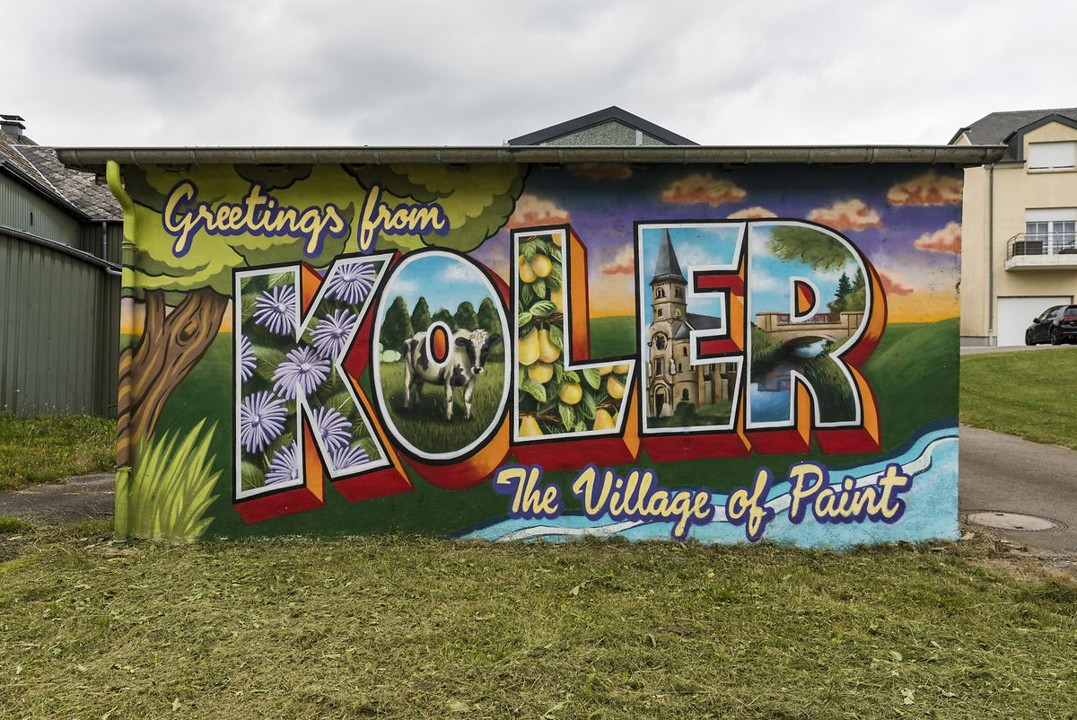 Alain Welter decided to Make Koler Kooler and you can see the results in this village in the west of Luxembourg