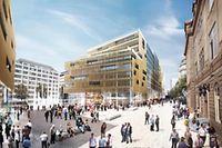 """Das """"Royal-Hamilius""""-Projekt sieht 16 000 bis 18 000 m2 Geschäftsfläche, 1 300 m2 für Gaststätten, 1 000 m2 für die Mobilitätszentrale und weitere öffentliche Einrichtungen, 8 000 bis 10 000 m2 Wohnraum und 10 000 m2 Bürofläche vor."""