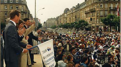 Der damalige Erbgroßherzog Henri schickte das Peloton im Jahr 1989 auf die Reise.