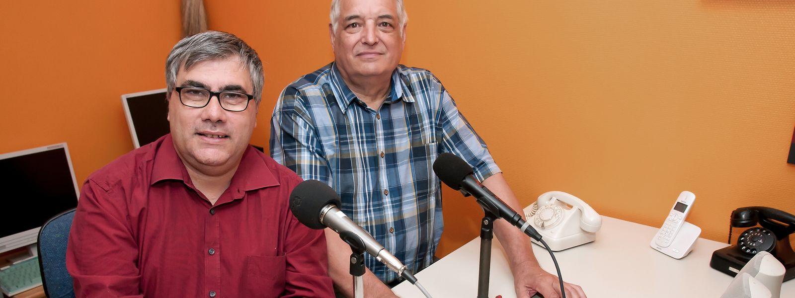 Jean-Paul Heinen (Public Relations), Georges Marzinotto (Vizepräsident und Techniker) (v.l.n.r).