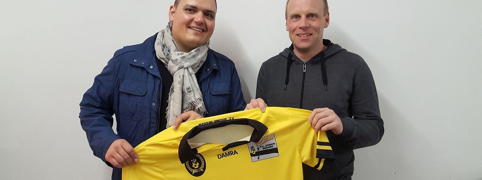 Gilles Wagner (à g.) et Carlo Feipel, le nouveau binôme à la tête de l'Avenir Beggen la saison prochaine