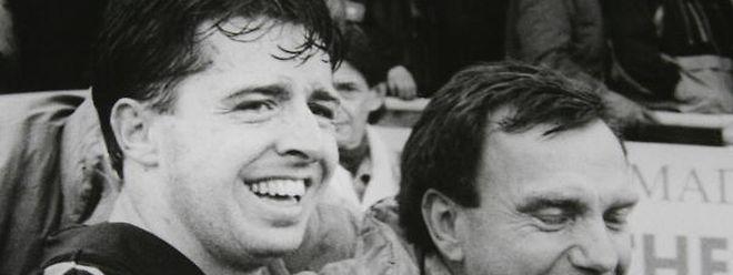 Für den fußballbegeisterten Alain Schmidt (l.) steht die Kameradschaft beim Sport an oberster Stelle.
