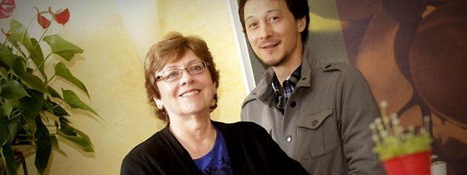 Shirley Lee Roller und ihr Sohn Brannon.