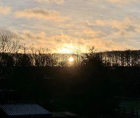 Schéine Sonnenopgank um 22.2.2020