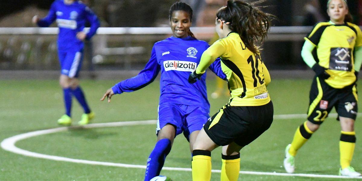 Sadine Correia et le SC Bettembourg ont gardé le sourire face au Progrès de Catarina Lavinas.