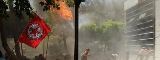 Dramatiosche Szenen spielten sich kurz nach der Explosion ab.