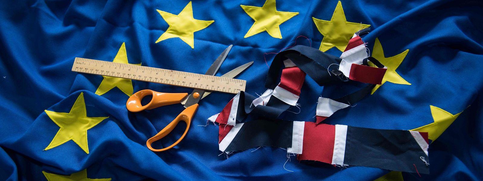 Nach dem Brexit hat die europäische Flagge einen Stern weniger, den von Großbritannien.